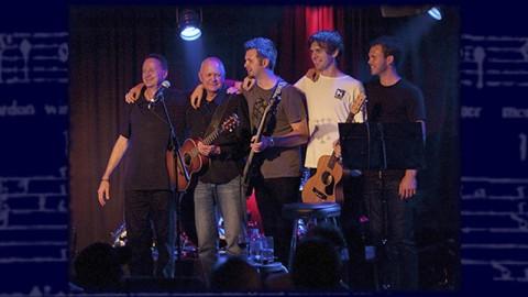 Five Brewsters On Stage Together - Rick, John, Sam, Harry & Tom