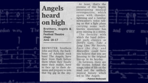 Brothers, Angels & Demons - A Review From The Adelaide Advertiser